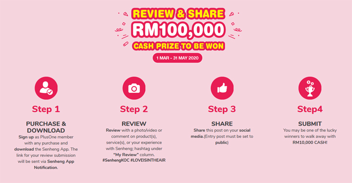 Review and Share Senheng Win Rm100000