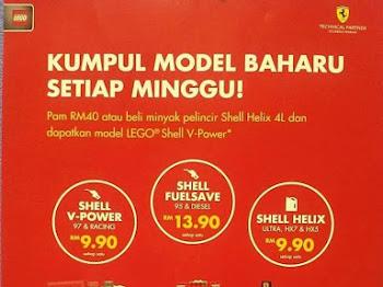 Koleksi LEGO Shell V-Power Edisi Terhad Menemui Anda