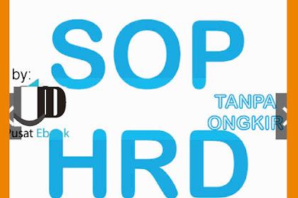 Download PAKET SOP Khusus HRD PERUSAHAAN+FLOWCHART+FORMULIR