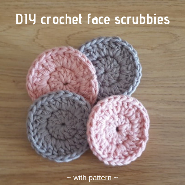 DIY crochet face scrubbies - with pattern