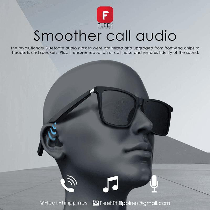 FLEEK Smart Eyewear features a mic for clear calls