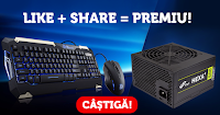 Castiga o sursa FSP-Fortron HEXA+ si un Kit Tastatura si Mouse Tt eSPORTS Commander Gaming