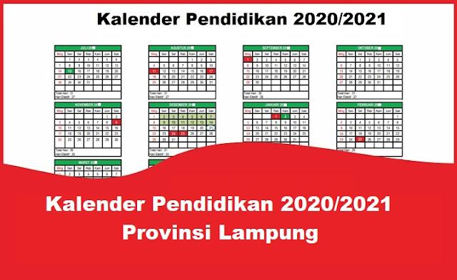Kalender Pendidikan 2020/2021 Provinsi Lampung