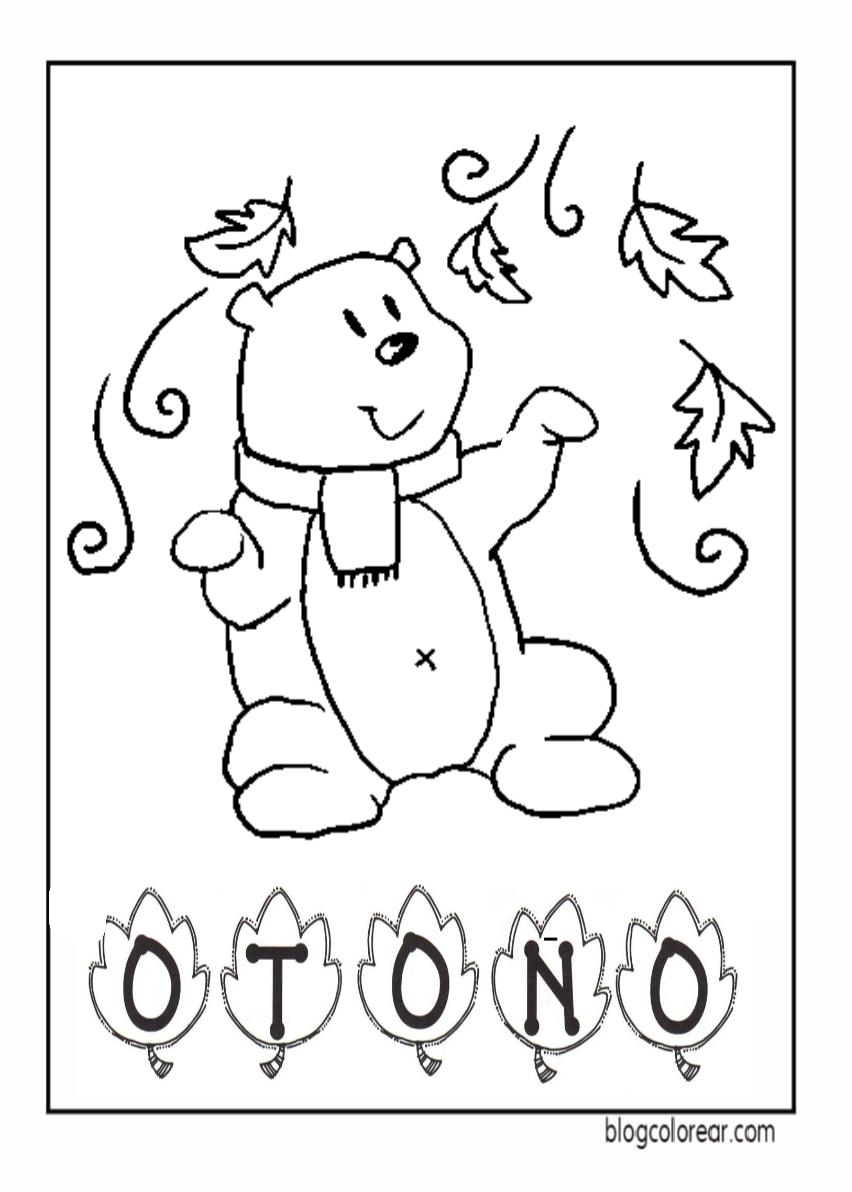 Dibujos Para Colorear De Otoño Colorear Dibujos Infantiles