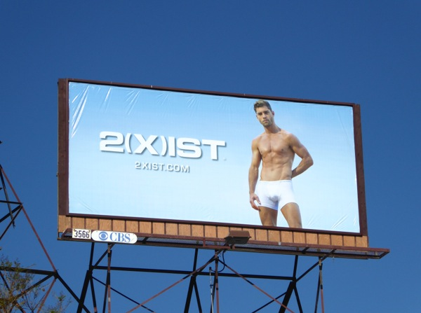 2Xist men's white underwear billboard