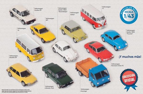 Colección de autos a escala Autos de Volkswagen