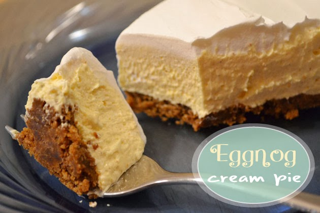 Image result for Eggnog Cream Pie