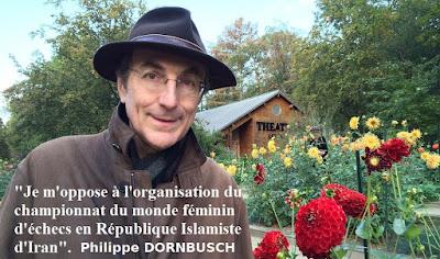 Philippe Dornbusch, Directeur de Chess & Strategy s'oppose au choix de la FIDE