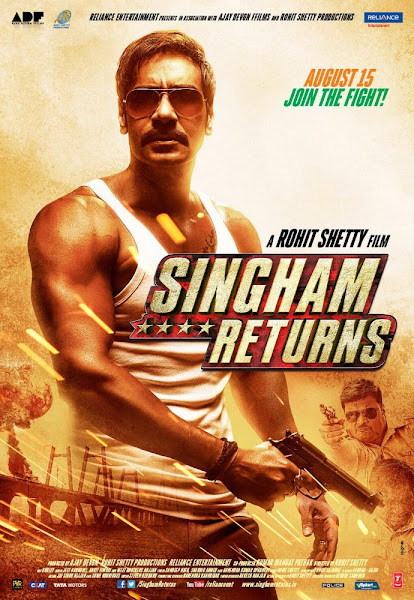 Poster of Singham Returns 2014 480p Hindi BRRip Full Movie 300MB HEVC
