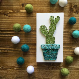 cactus in string art