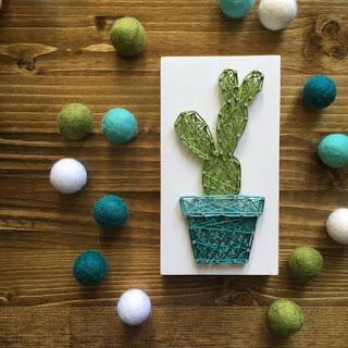 cactus in string art