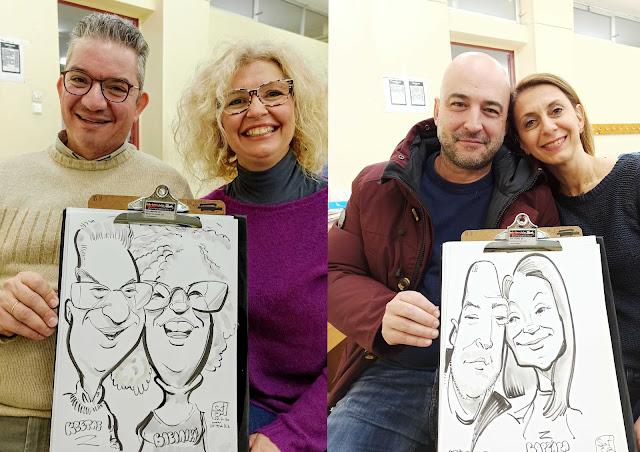 Εκδηλώσεις καρικατούρας: Ένα πρωτότυπο αποκριάτικο πάρτυ στο σχολείο , σκίτσο , events live caricatures