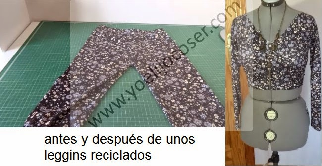 DIY de leggins a top con mangas