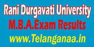 Rani Durgavati University M.B.A.Exam Results Download