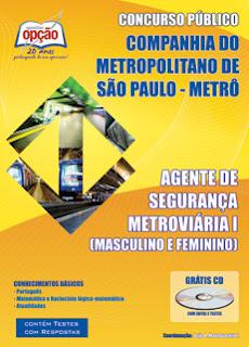 apostila AGENTE DE SEGURANÇA METROVIÁRIA SP