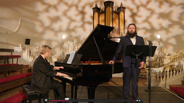Shostakovich: Four Romances on Poems by Pushkin - Lada Valesova, James Platt - Oxford Lieder Festival (photo taken from live stream)