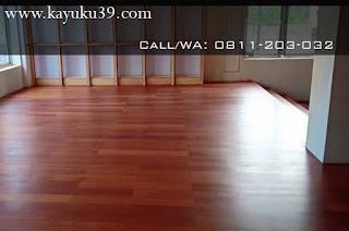 tampilan lantai kayu merbau matte