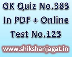 General Knowledge Quiz No 388(World Gk)Date: 01-09-2016 +