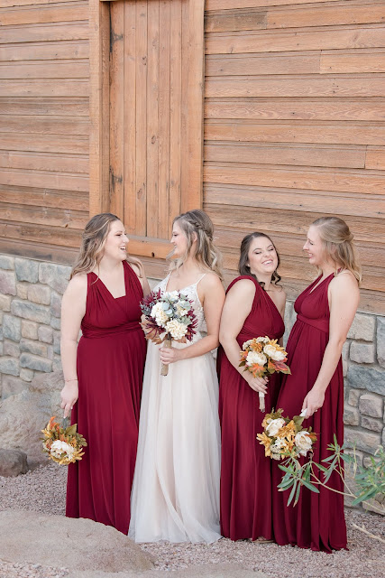 Shenandoah Mill in Gilbert AZ Wedding Photo of the bridesmaids by Micah Carling Photography