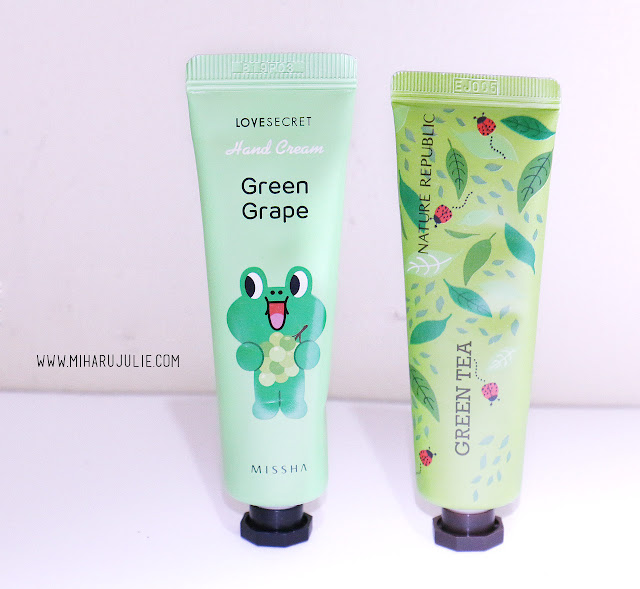 Missha Line Friends Edition Love Secret Hand Cream Green Grape