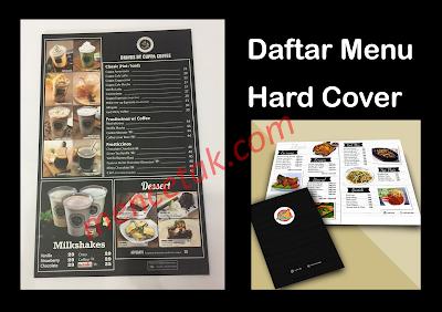 cetak daftar menu hard cover