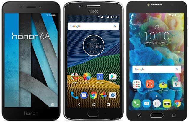 Honor 6A vs Motorola Moto G5 (2 GB RAM) vs Alcatel Pop 4s