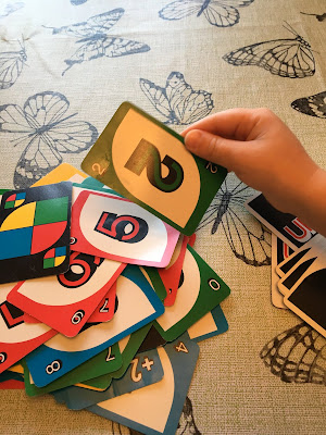 August 18, 2019 Playing Uno with my family.