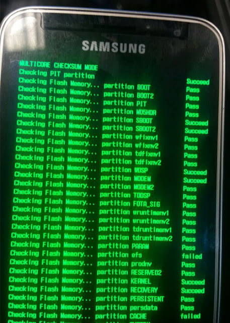 file fix Samsung Multicore Checksum mode Error cho Samsung Galaxy J Series