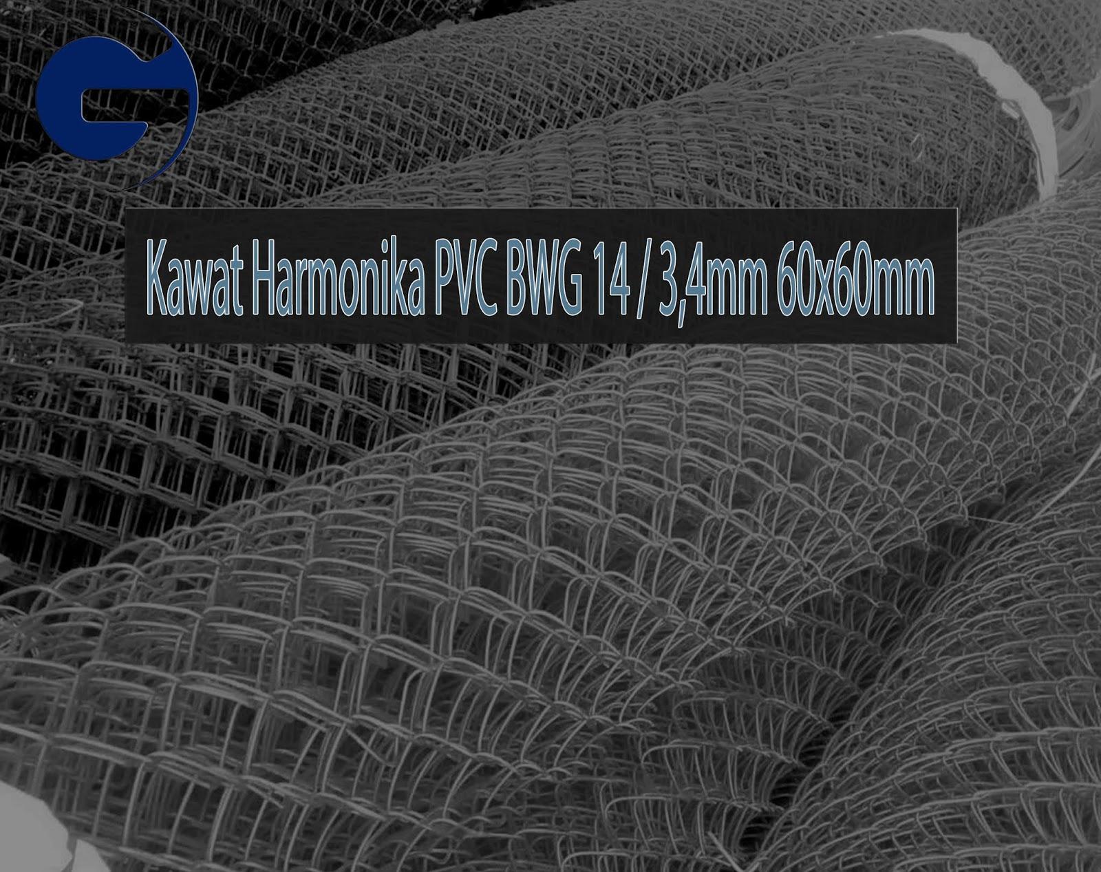 Jual Kawat Harmonika PVC SNI BWG 14/3,4mm 60x60mm