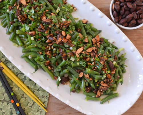 Fresh Green Bean Salad with Asian Dressing ♥ AVeggieVenture.com, re-inventing the picnic favorite.