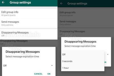 كيفية إرسال رسائل تحذف تلقائياً على واتس اب