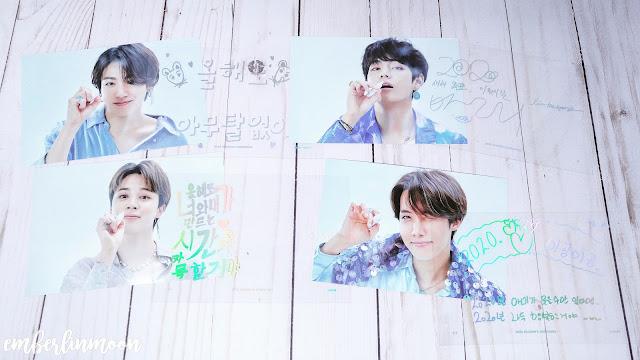 BTS 2020 Season Greetings - Member Greeting Cards