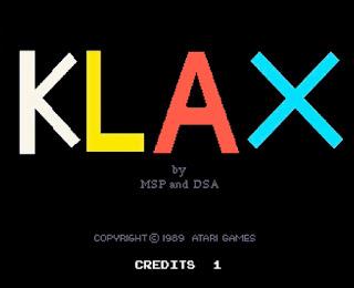 Klax タイトル画面