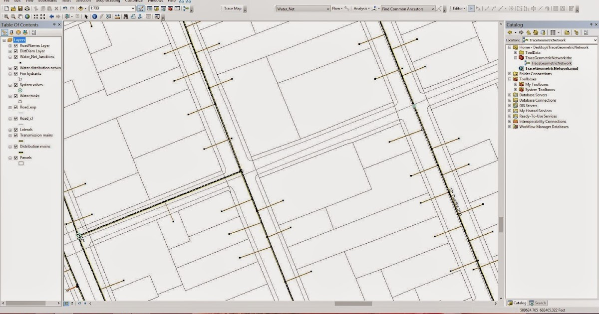 GIS Study: Simple Geometric Network Tracing