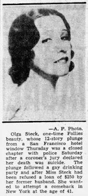 Olga Steck Suicide