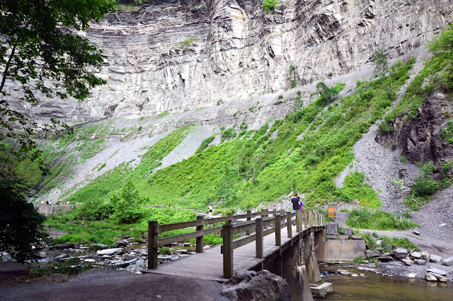 Walking the streambed in Taughannock Falls State Park