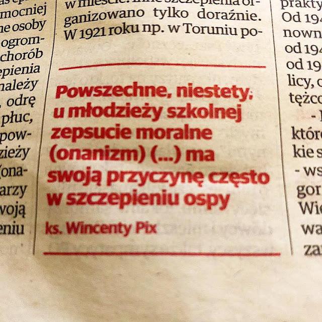 szczepienia masturbacja onanizm