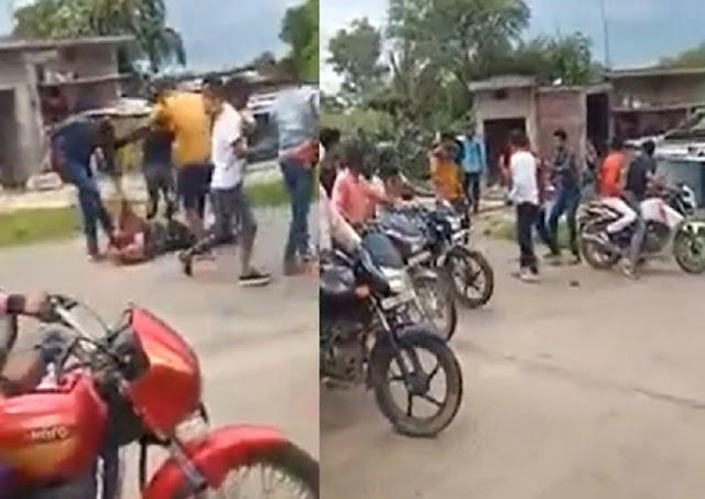 हाइवे पर युवक की सरेराह गुण्डों ने की पिटाई, तमाशबीन देखते रहे राहगीर - rewa news