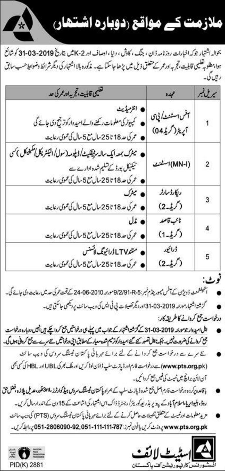 State Life Insurance Corporation of Pakistan Jobs 2020