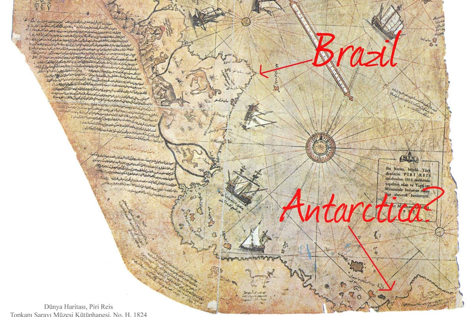 Cest Ainsi Quil Constata Par Exemple Deux Baies Notees Sur Les Cartes De Piri Reis A Un Endroit La Queen Maud Land Du Rivage Antarctique