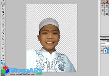 Hasil mengilangkan background di photoshop