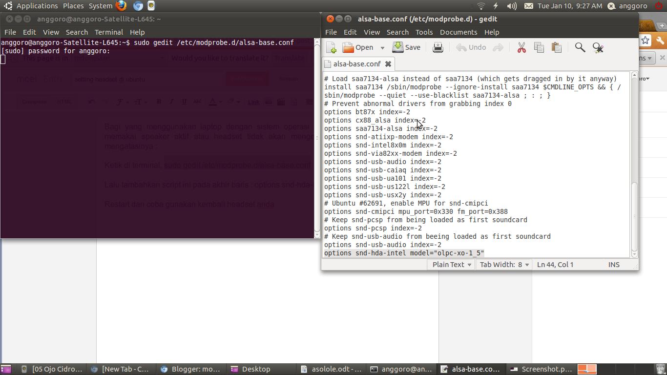 setting headset ubuntu ~ 3-AngGoRo