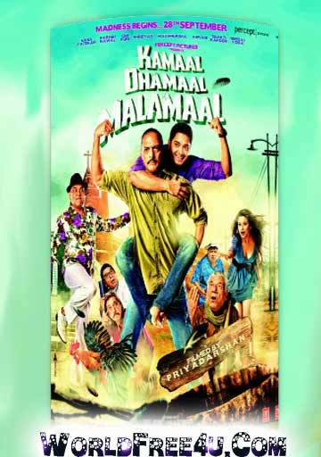 Poster Of Bollywood Movie Kamaal Dhamaal Malamaal (2012) 300MB Compressed Small Size Pc Movie Free Download worldfree4u.com