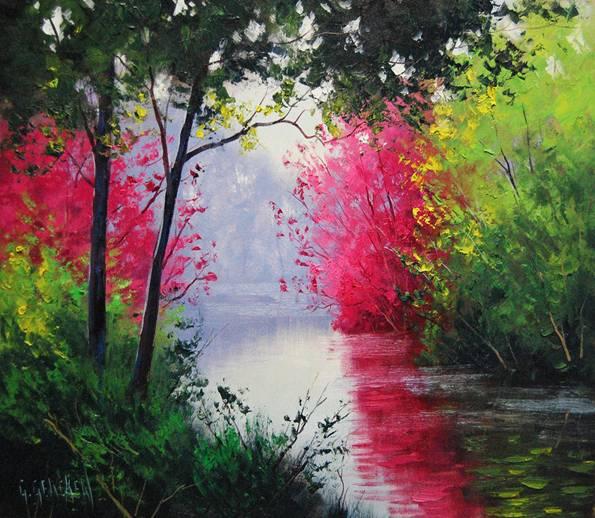 Por amor al arte hermosas pinturas de paisaje del artista - Los cuadros mas bonitos ...