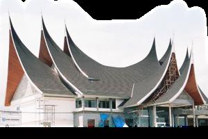 rainbow-atap rumah adat Minangkabau
