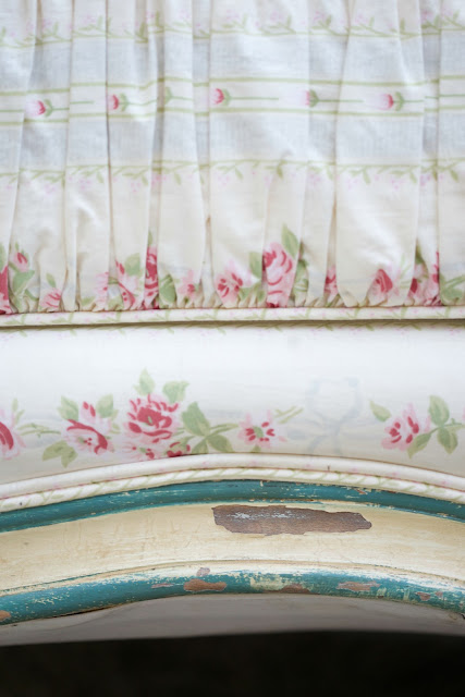 french cottage vintage daybed with chippy paint