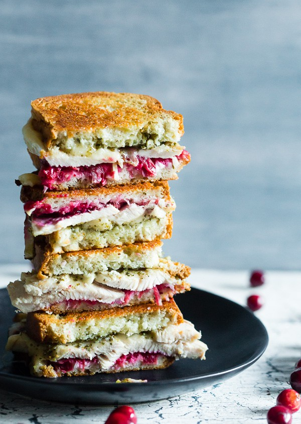 Turkey Cranberry Pesto Panini from Nutmeg Nanny