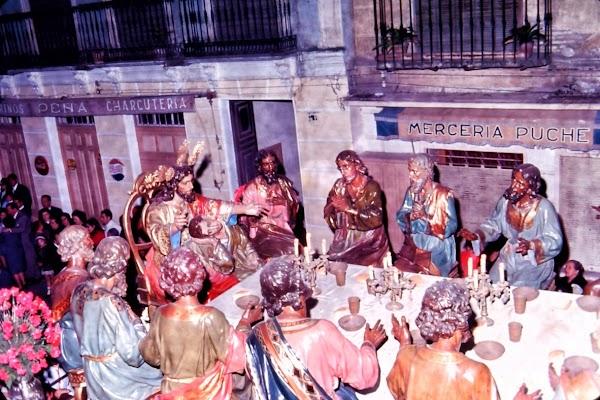 Imágenes inéditas de los desaparecidos Titulares de la Cofradía de la Sagrada Cena y María Santísima de la Paz de Málaga