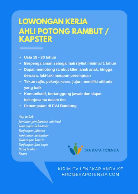 Lowongan Kerja Kapster di Bandung