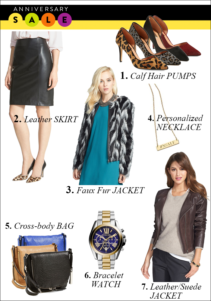 nordstrom anniversary sale, leather jacket, crossbody bag, calf hair, bracelet watch
